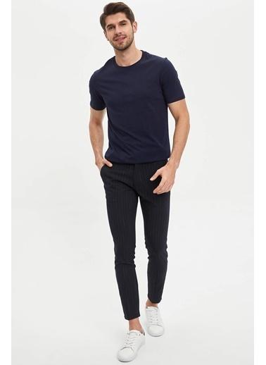 DeFacto Basic Kısa Kollu T-shirt Lacivert